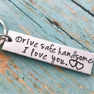💜🔥⭐️NEW Keychain Personalized Gift Father